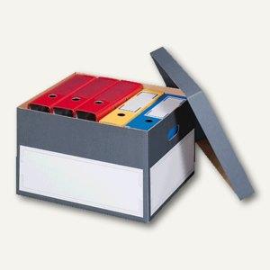 Archivbox L m. Deckel, 435x385 mm, anthrazit/wei