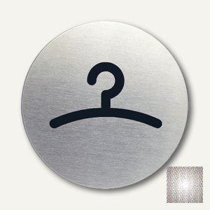 Edelstahl-Piktogramm Garderobe