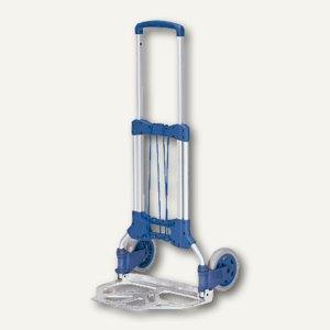Paketkarre, klappbar, kompakt, Tragkraft 125 kg, blau, 1732