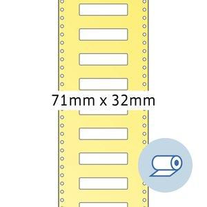Rollenetiketten - 71 x 32 mm