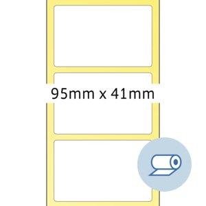 Rollenetiketten - 95 x 41 mm
