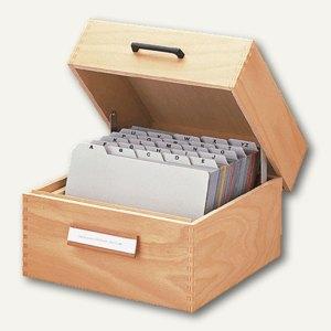 Karteikasten aus Holz, DIN A6 quer, f