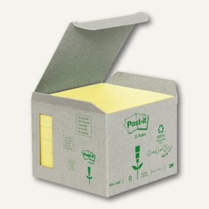Post-it Recycling Z-Notes, 76 x 76 mm, gelb, 6x 100 Blatt, R3301B