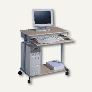 PC-Tisch Standard, 750x750x450mm, silber/ahorn, 3197-120
