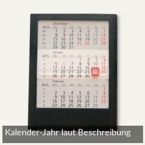 3-Monats-Tischaufstellkalender - 12.5 x 16 x 1.4 cm