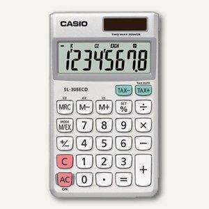 Casio Öko-Taschenrechner, 8-stellig, großes Display, SL-305ECO