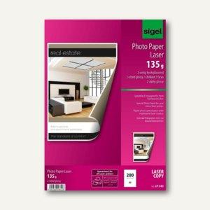 Sigel Fotopapier für Farb-Laser, DIN A3, glossy, 135g/m˛, 200 Blatt, LP343