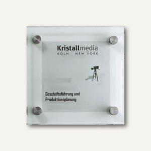 Glas-Türschild 15 x 15 cm