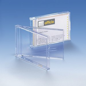 Visitenkartenbox für 15-20 Visitenkarten, transparent, 50 Stück, 966181