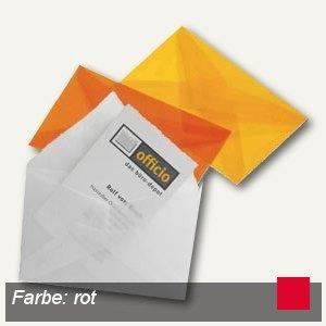 Briefumschlag Für Visitenkarten 62 X 98 Mm Nasskl Transparent Rot 100 St