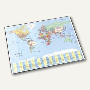 Laufer Schreibunterlage Weltkarte Mit Schutzfolie 45351