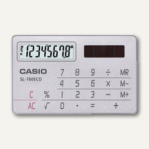 Taschenrechner, Kreditkarten-Format, Solarbetrieb, SL-760ECO