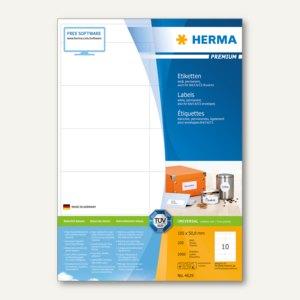 """Etiketten """"Premium"""", DIN A4, 105 x 50.8 mm, wei"""