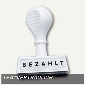 Textstempel VERTRAULICH