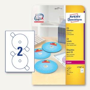 CD-Etiketten SuperSize für Farblaser