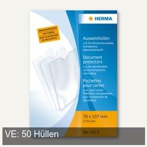 Herma Ausweishüllen 76 x 107 mm, für Personalausweise, 50 Stück, 5015