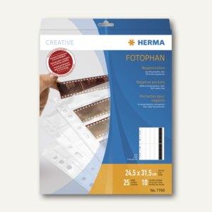 Herma Negativhüllen für 10x4 Negative, klar, 25 Hüllen, 7760