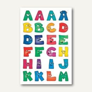 Herma Buchstaben, 20 mm, A-Z, Papier, lustige Gesichter, 10 x 2 Blatt, 4194
