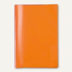 Heftschoner DIN A5, PP, transparent/orange, 50 St