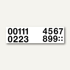 Zahlen 33 mm