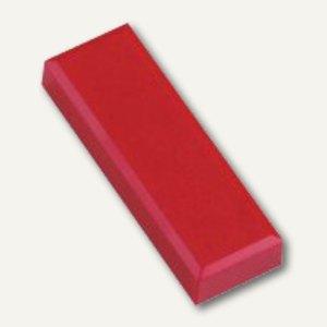 Rechteckmagnet 53 FA, Haftkraft: 1 kg, 20 St./Btl., rot, 6179125