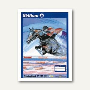 Pelikan Zeichenblock DIN A2, 100 g/m˛, Block mit 10 Blatt, 137604