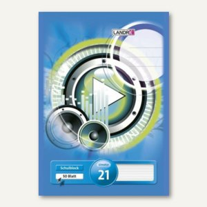 Schulblock DIN A4 - Lineatur 21