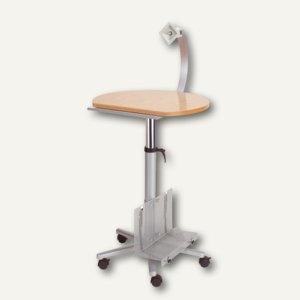 MAUL Profi-Monitorpult mit Flachbildschirmträger, bis 8 kg, buche, 9317070