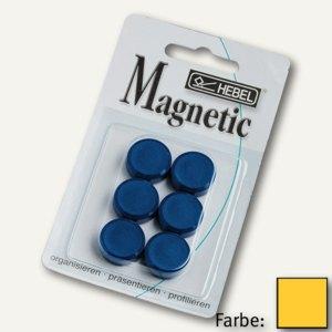Hebel Rundmagnet SB 20 FA, Haftkraft: 0.3 kg, gelb, 10x6 St./Set, 6176213