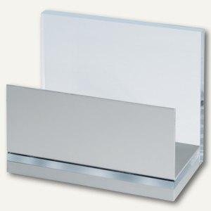MAUL Kartenständer MAULacro, bis DIN A5, 11 x 6 x 9,3cm, glasklar, 2 St.,1962005