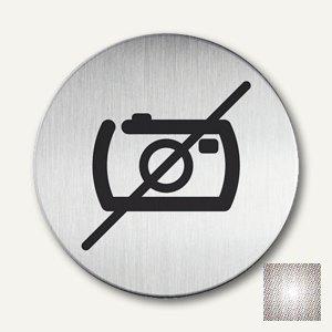 Edelstahl-Piktogramm Keine Fotos