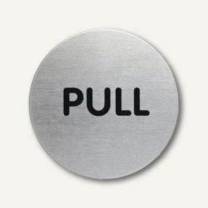Edelstahl-Piktogramm PULL