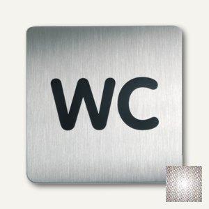 quadratisches Piktogramm WC