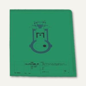 Sichthülle DIN A4, oben+rechts offen, genarbt, 0.12 mm, grün, 100 Stück, 2337-05