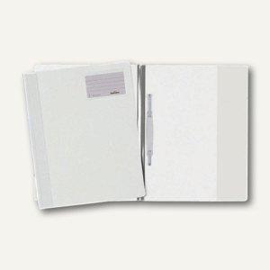 Durable Schnellhefter DIN A4+, mit Beschriftungsfenster, weiß, 25 St., 2500-02