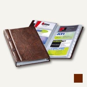 Durable Visitenkartenalbum VISIFIX 200 - für 200 Visitenkarten, braun, 2382-11