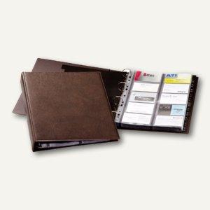 Durable Visitenkarten-Ringbuch VISIFIX für 400 Visitenkarten, braun, 2384-11