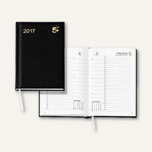 officio Buchkalender DIN A5, 1 Tag/1 Seite, 352 Seiten, schwarz