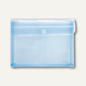 FolderSys KFZ-Tasche mit Dehnfalte 3cm, 3 Folientaschen, blau, 100 St., 40115-44