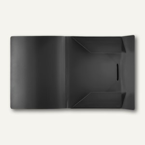 Eckspanner-Sammelbox A4, schwarz, PP, 30 St