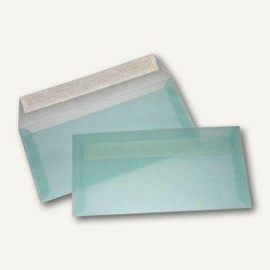 Briefumschlag DIN lang, haftklebend, 100 g/m˛, transparent-pastellblau, 100 St.