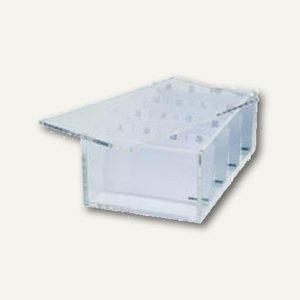 Acryl-Visitenkartenbox mit Deckel u. Register A-Z