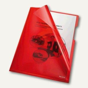 Bene Aktenhüllen 150my DIN A4, oben u. rechts offen, rot, 100 Stück, 205000 RT
