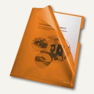 Bene Aktenhüllen 150my DIN A4, oben u. rechts offen, orange, 100 Stück,205000 OR