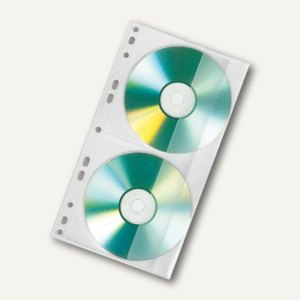 CD/DVD-Doppelhülle, 143x255mm, PP, f. 2 CDs, 100 St. in SB-Pack. 43560, 4356000