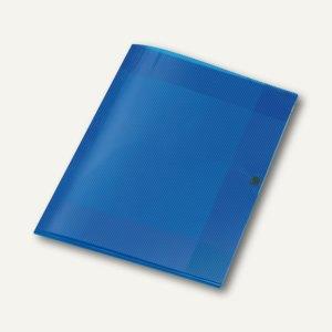 Sammelmappe Crystal, DIN A4, PP, H 8 mm, transp. blau, 12 St., 4439250