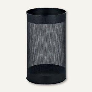 officio Papierkorb aus Metall, 15 l, stabile Ausführung, schwarz, 2981