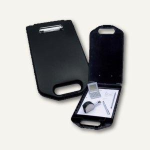 Wedo Klemmbrett A4 mit Aufbewahrungsfach, schwarz, 576001