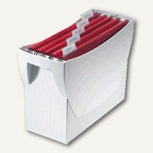 Hängemappenbox Swing DIN A4, PS, für 20 Mappen/3 Ordner, ohne Deckel, lichtgrau
