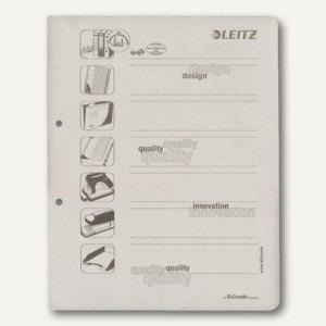 Trennblätter, DIN A4 Deckblätter für Ordner, 160g/m˛, grau, 100 Stück